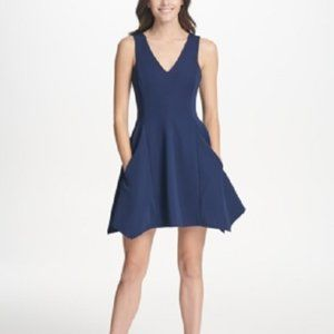New Kensie Ribbed Fit & Flare Dress